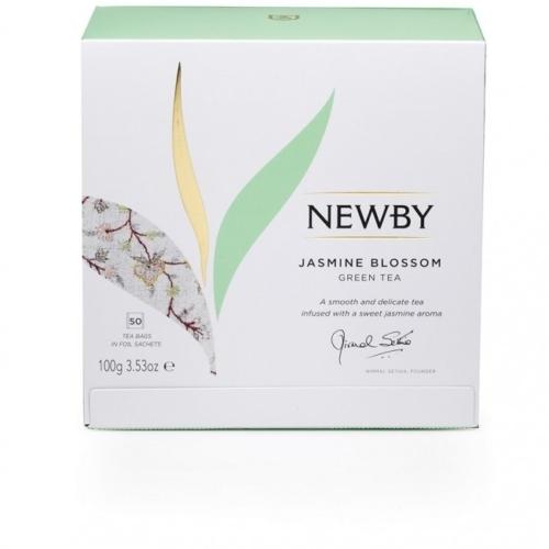 Herbata Newby Zielona Kwiat Jaśminu saszetki 50 sztuk.