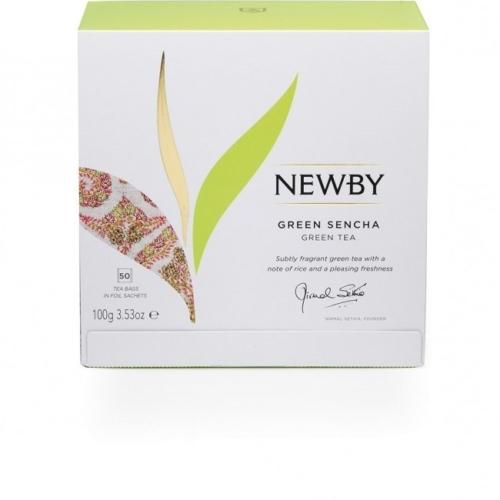 Herbata Newby Green Sencha saszetki 50 sztuk.