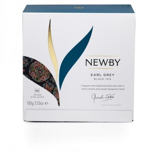 Herbata Newby Earl Grey saszetki 50 sztuk.