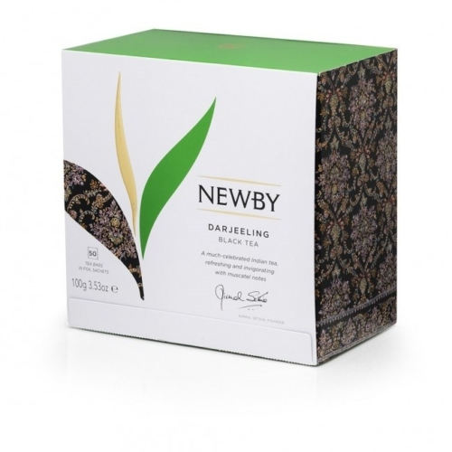 Herbata Newby Darjeeling saszetki 50 sztuk.